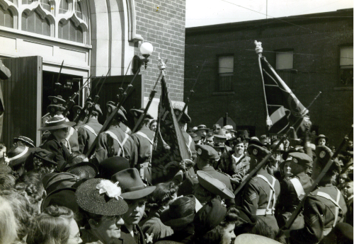 9_Camerons-Depositing of Colours to St Giles Church Ottawa-May 12-1940-2