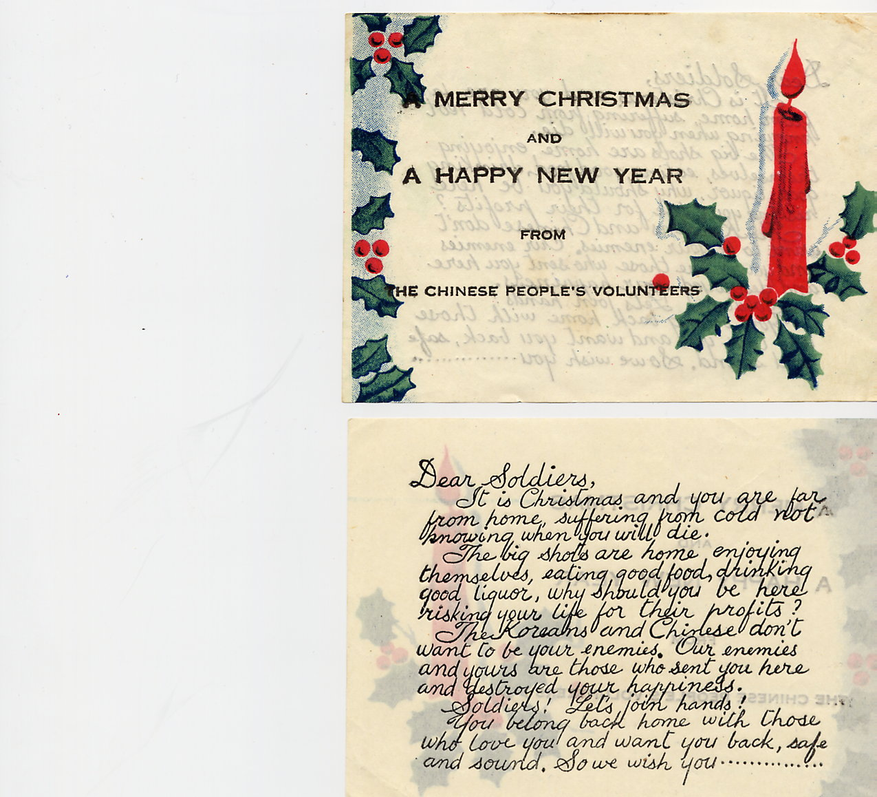 11_North Korean Christmas Card Insert Propaganda 1951