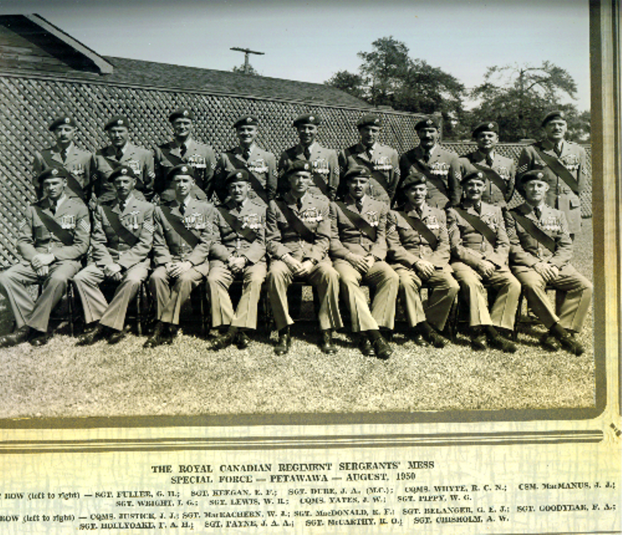3_RCR-Petawawa-August 1950 Special Force Sgts Mess_smaller
