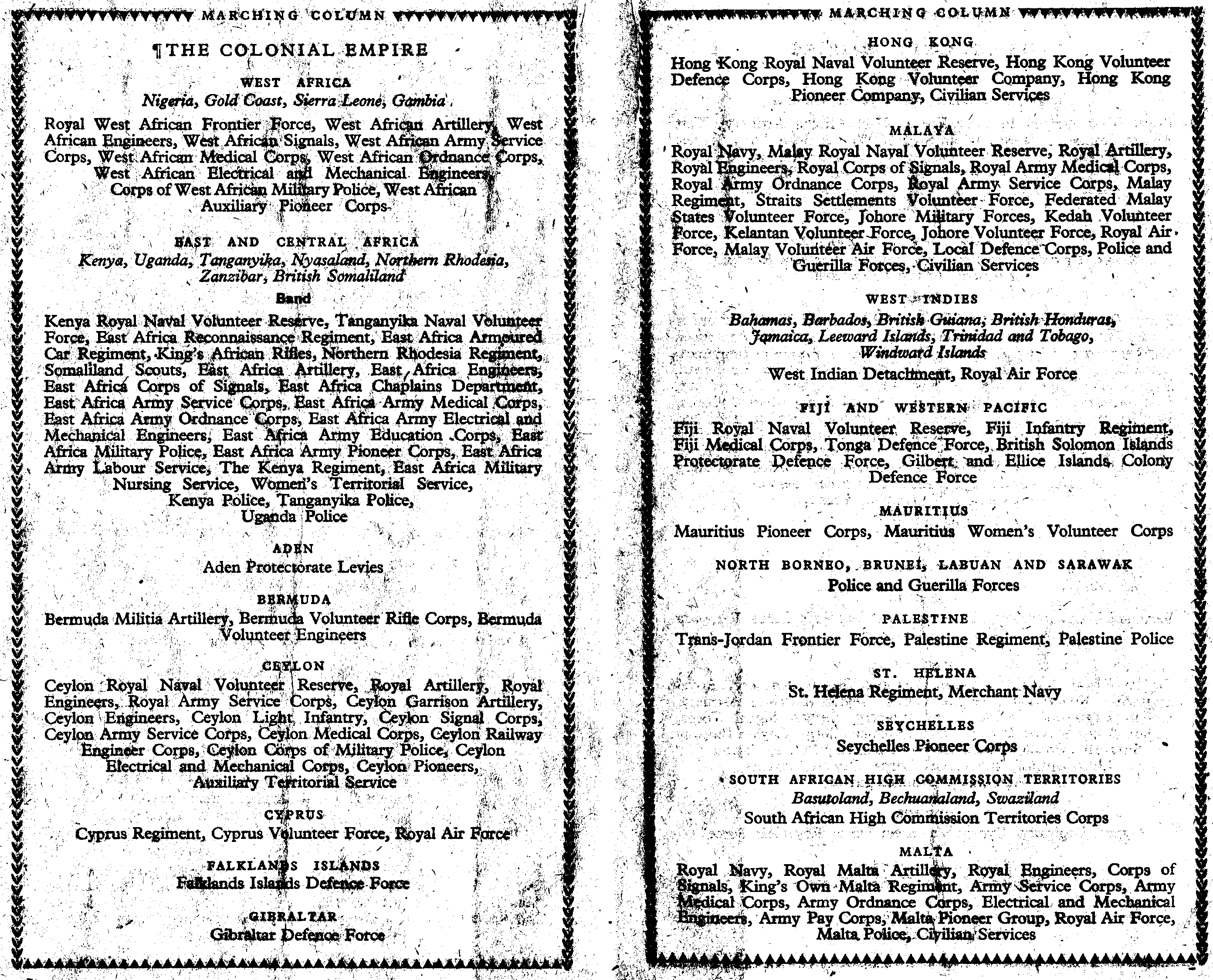 85_Victory Celebrations-8 June 1946-London-Official Programme-Pg 7-8