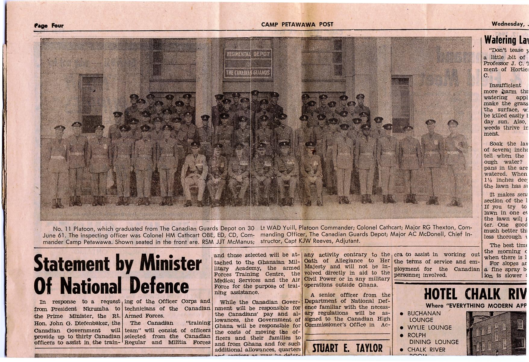 28_RSM McManus-Camp Petawawa Post-Wed 12 Jul 1961 - Pg 4Top