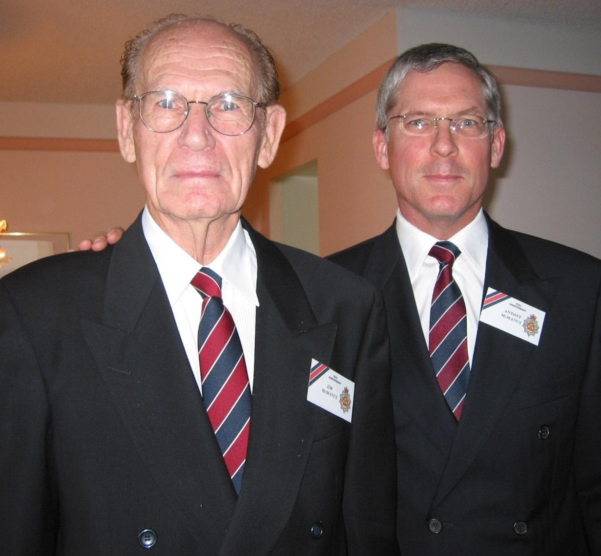 53_Cdn Guards 50 Anniversary-Agust 2003- RSM JJT McManus & son Antony