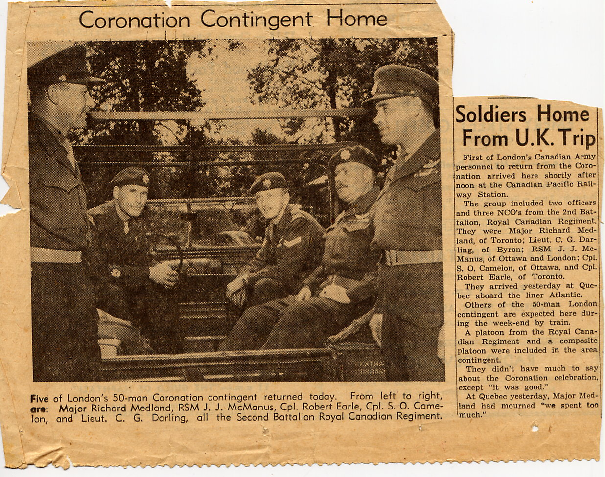 56_Coronation Contingent Home-Ottawa Citizen-undated