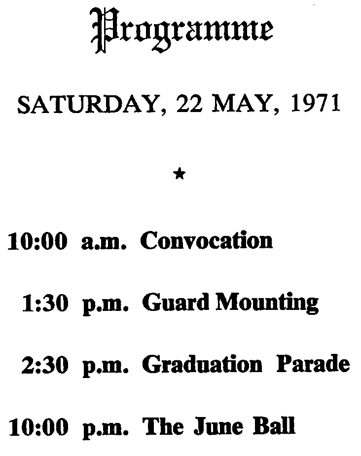 10_RMC-Graduation Ceremonies-22 May 1971-Cover Back