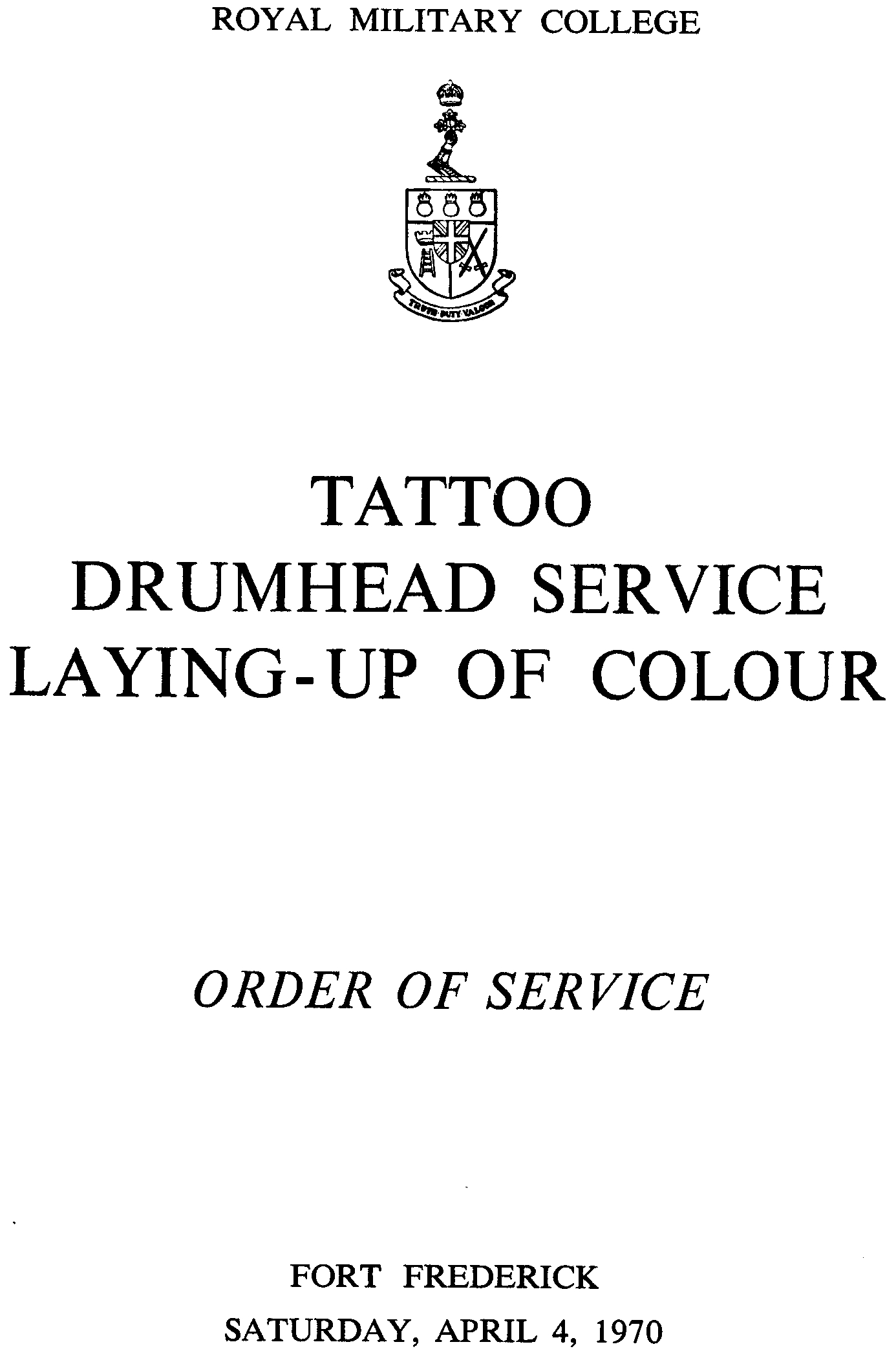 18 rmc tattoo drumhead service 04 apr 1970 cover front. Black Bedroom Furniture Sets. Home Design Ideas