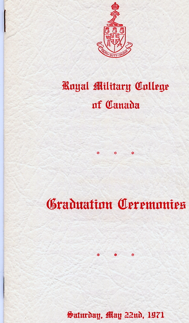 4_RMC-Graduation Ceremonies-22 May 1971-Cover Front