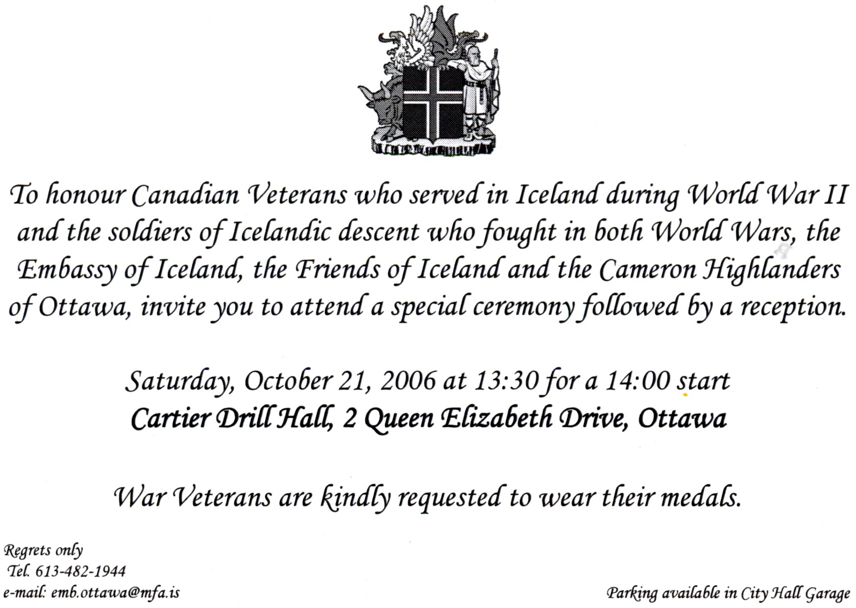Iceland-Embassy Invitation-21Oct06